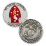 2nd Marine Division Antique Silver Coin