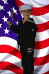 Navy Black Sailor Outfit