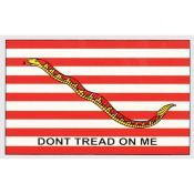 Don't Tread On Me Striped 3' x 5' First Navy Jack Flag